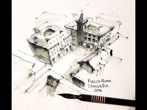 Architecture Sketching - Italy, Senigallia
