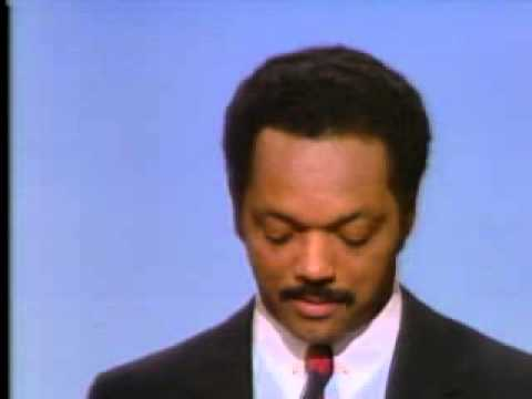 Rev Jesse Jackson at the 1984 Democratic National Convention