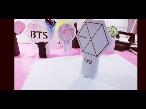 DIY _ KPOP Lightstick 3D pop up : EXO, BTS, BIG BANG, TWICE, GOT7...