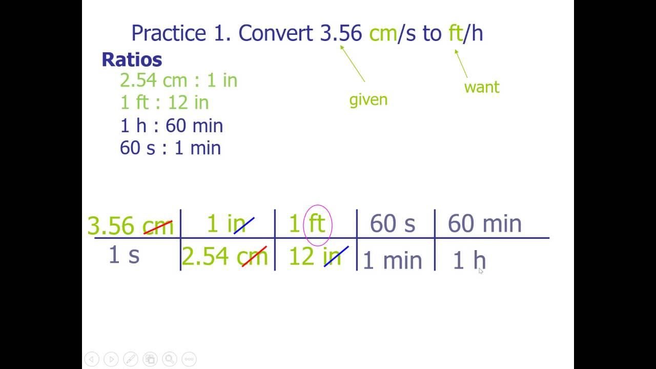 Convert 3 56 Cm S To Ft H