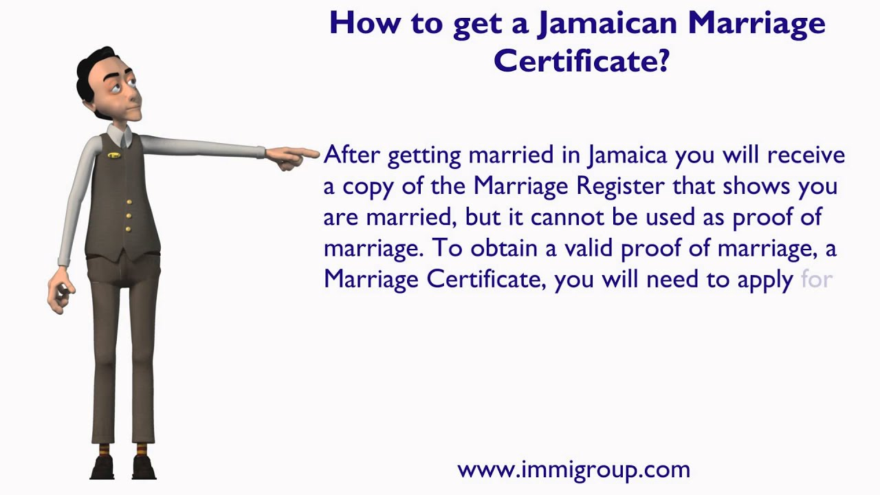 How To Get A Jamaican Marriage Certificate Youtube