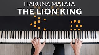 The Lion King 2019 - Hakuna Matata | Francesco Parrino Piano Cover Tutorial видео