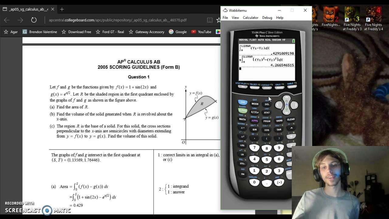AP Calculus BC Ap Exam Free Response 2005 FRQ Form B #1 - YouTube