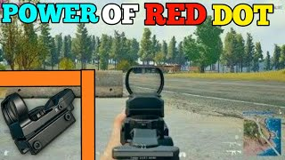 "POWER OF RED DOT IN PUBG MOBILE ""SHAURYA GAMING POINT"""