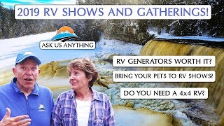 First Q&A of 2019! RV Lifestyle's Gatherings and Upcoming RV Shows