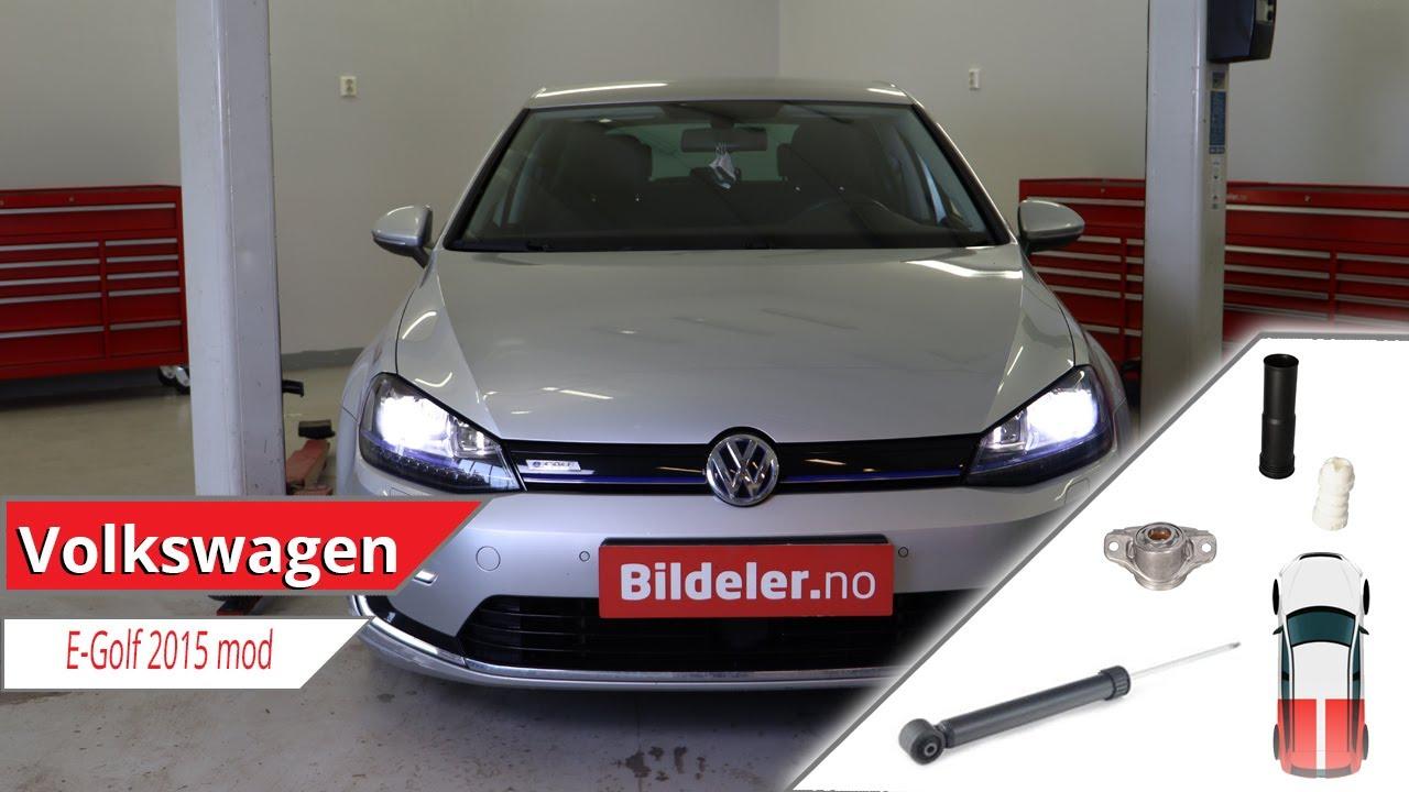 VW E-Golf: Hvordan bytte støtdemper og fjærbeinslager bak - 2013 og nyere modeller