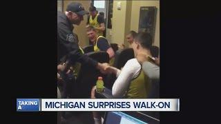 Michigan basketball team scares walk-on Andrew Dakich, then awards him scholarship