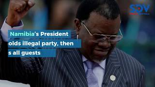 Namibia's president fines top Government officials for attending party that he hosted himself