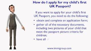 How do I apply for my child s first UK Passport?