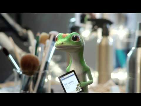 GEICO Gecko Makeup Commercial ~ Gecko Behind the Scenes