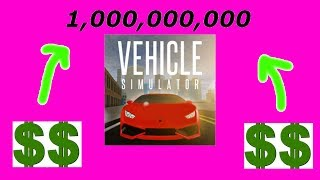 💰 ROBLOX VEHICLE SIMULATOR - 1 MILLIARD DE DOLLARS CODE -INSANEMD 💰
