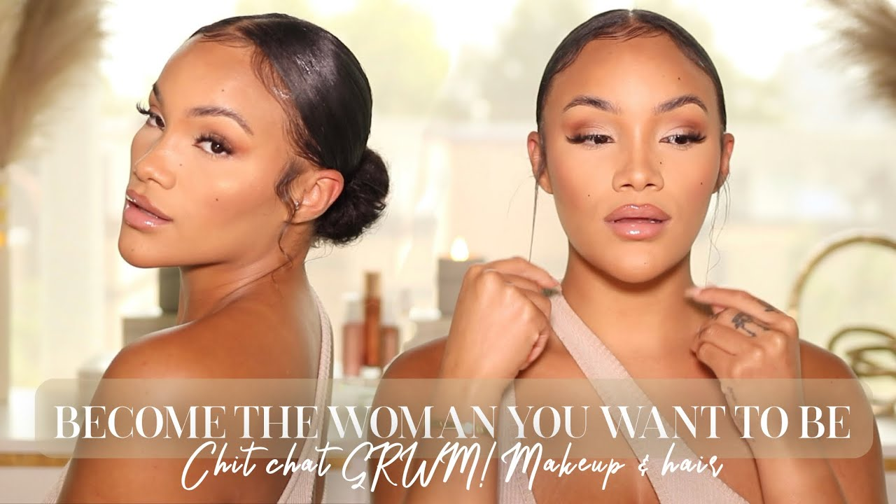 CHIT CHAT GRWM! BECOME THE WOMAN YOU WANT TO BE! ALL SEPHORA MAKEUP + SLICKBACK BUN | ALLYIAHSFACE