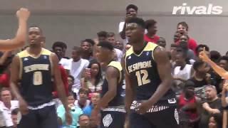 Zion williamson highlights vs. melo ball at adidas summer championship