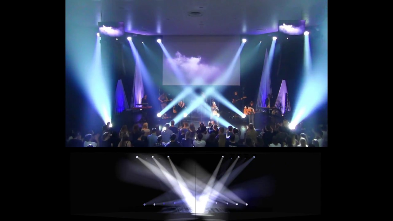 In the river visualizer live comparision lighting design youtube
