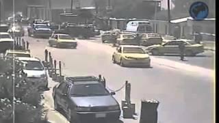 كاميرات المراقبة تصور لحظة التفجير الذي استهدف محكمة الكرادة في بغداد - 15/05/2014