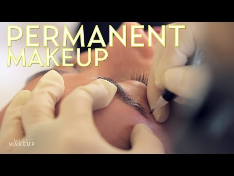 Permanent Eyebrows with Tattoo Makeup