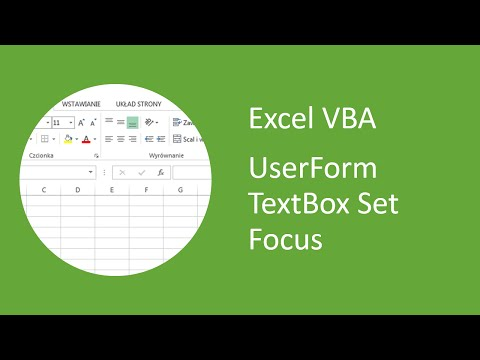Excel VBA UserForm TextBox - How to Set Focus - YouTube