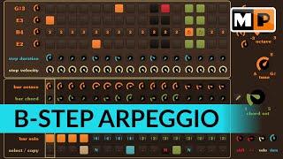 B-Step Sequencer - Erstellen einer geschwungen Linie.