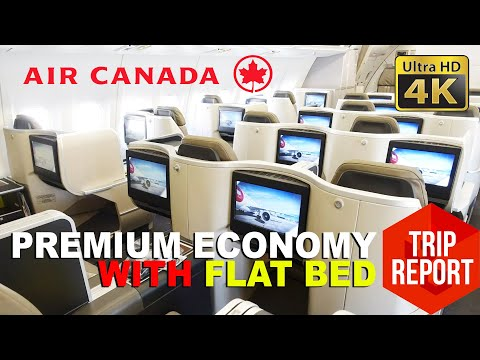 Trip Report (4K) - Air Canada AC819 Lie-Flat Premium Economy & Kosher Meal