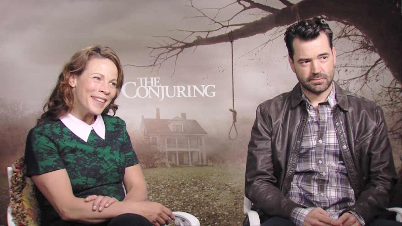 Lili Taylor & Ron Livingston 'The Conjuring' Junket - YouTube