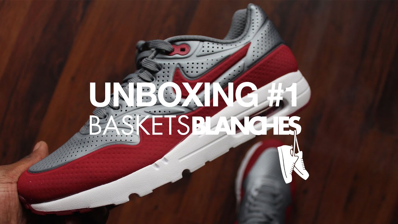 buy popular 82f75 1175b Sneakers unboxing 1 by Baskets Blanches - Air Max 1 Ultra Moire Cool  greyGym Red
