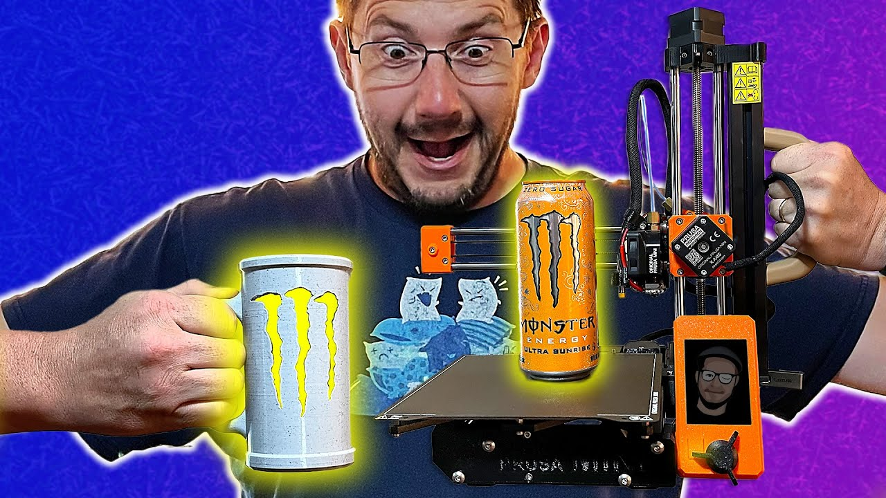 WILL THE CAN FIT? // 3D Printing the Stimulant Stein on the Prusa MINI!