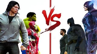 JUSTICE LEAGUE VS AVENGERS   Marvel vs DC   (GTA V)