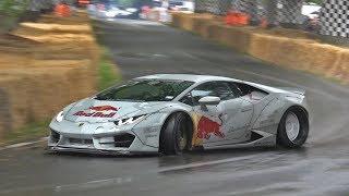 Mad Mike's INSANE 800HP Lamborghini Huracan Drift Car in Action @ Goodwood FOS! BURNOUT & DRIFTS!