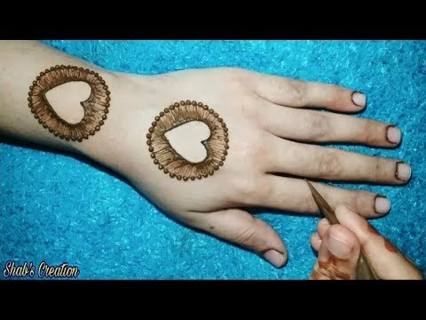 Most Attractive Heart Shape Mehndi with Trick | Easy Love Heart Mehndi Design | Valentine's Day thumbnail