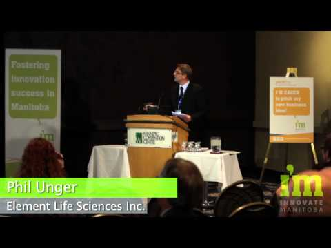 Phil Unger presents Element Life Sciences Inc. , at Innovate Manitoba's PitchDay 2013