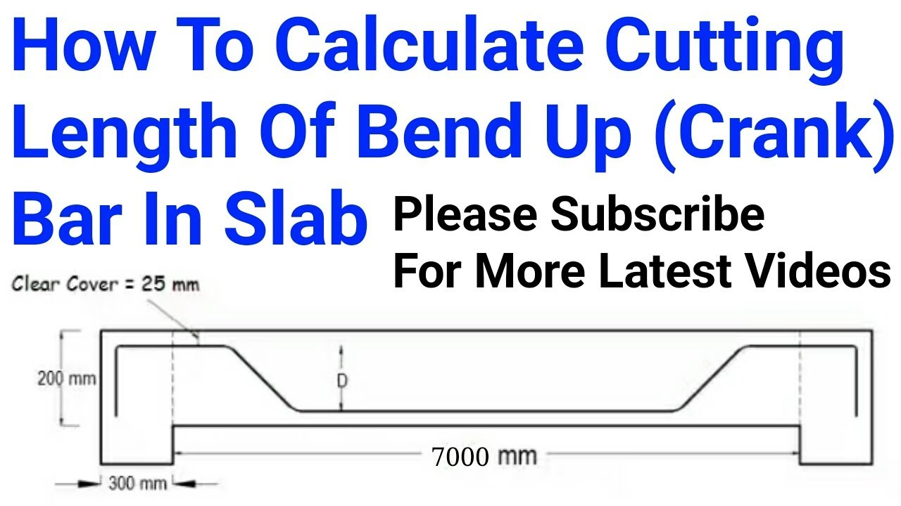 How To Calculate Cutting Length Of Bend Up Crank Bar In