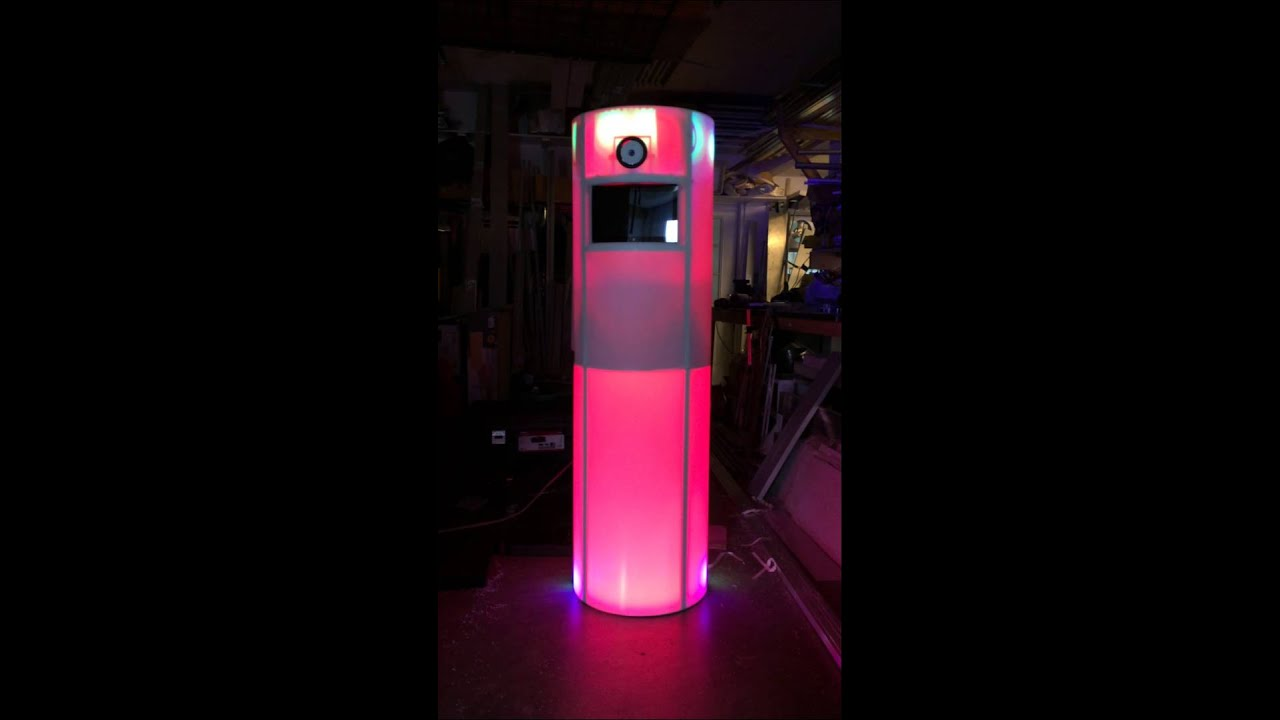 Diy Neon Photo Booth Kiosk Round Shape With Pulsating Led