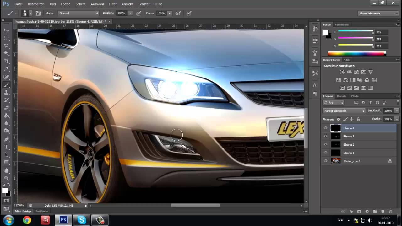 Poshop Beleuchtung | Adobe Photoshop Cs6 Scheinwerfer Licht Effecte Erstellen