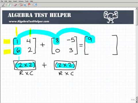 Introduction to matrices - Add and Subtract Matrices