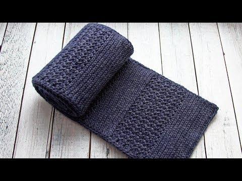 Мужской шарф крючком | Шарф для мальчика крючком
