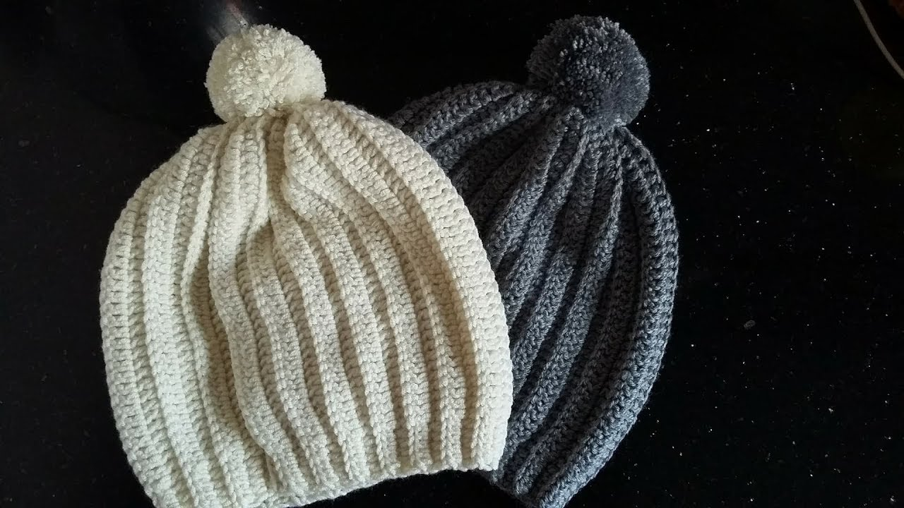 Crochet bonnet adulte femme