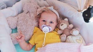 Обложка на видео о Куклы Пупсики Реборн Саша/Pretend play with Baby Doll and Reborn/Идем на прогулку