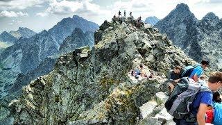 Rysy. Panorama Tatr z opisem szczytów.