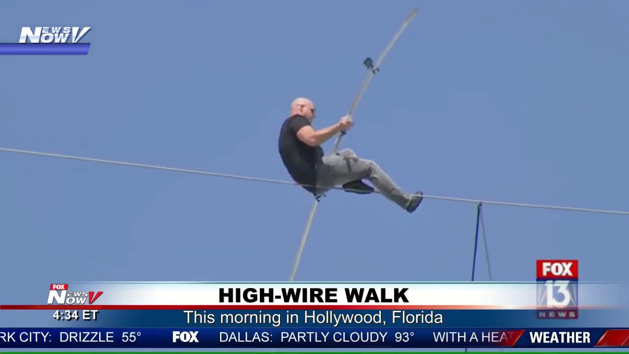 Nik Wallenda Successfully Completes Highwire Across Active ...