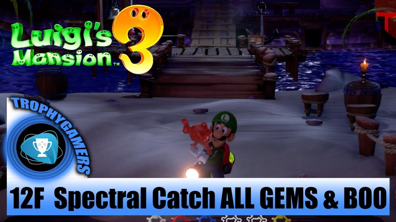 Luigi S Mansion 3 All Gems Boo Location 12f The Spectral Catch
