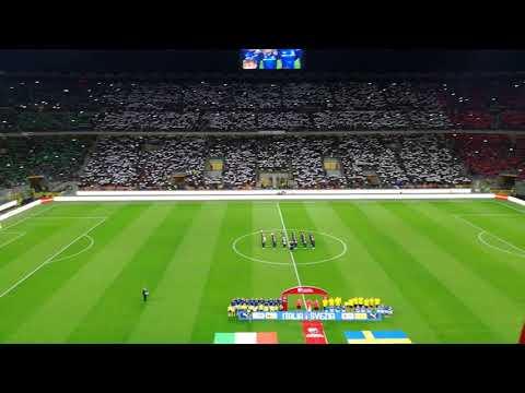 Italian anthem. 13/11/2017. Italy vs Sweden