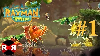 Rayman Mini - Apple Arcade - WORLD 1 PERFECT Walkthrough Gameplay
