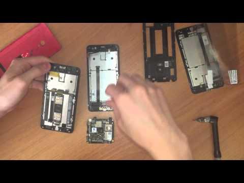 как разобрать Asus ZenFone 5 и заменить LCD Screen display + touch sreen