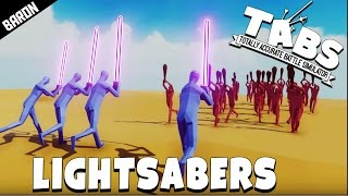 Double Lightsaber Energy Sword Jedi Master & Attack On Titan - Totally Accurate Battle Simulator