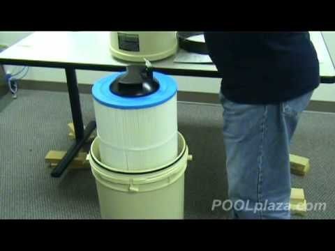 Howto clean a clean and clear cartridge filter for Obi filtersand pool
