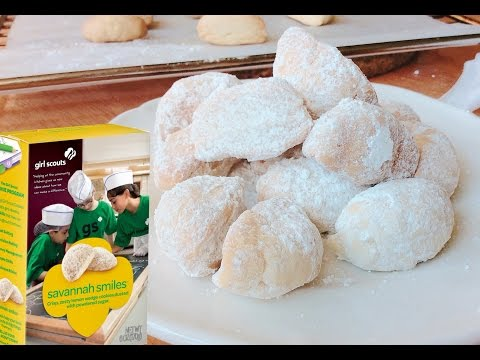 How To Make SAVANNAH SMILES (Lemon Girl Scout cookies)