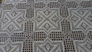 Я связал 9 мотивов новой скатерти/ I made 9 motives of a tablecloth.