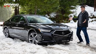 2021 Acura TLX Advance SH-AWD Reviewed + Snow & Sand