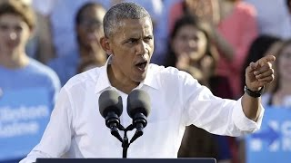 Obama pleads for voters to reject Trump