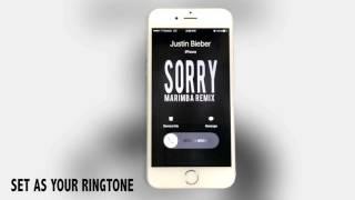 Enjoy marimba remix of sorry (by justin bieber). ************************************************** download this ringtone! _________________________________...